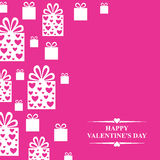 Valentines day greeting card with gifts Stock Photography