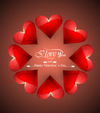 Valentines day Greeting card heart colorful background Royalty Free Stock Photos