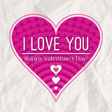 Valentines day greeting card  with  heart Royalty Free Stock Photo