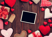 Valentines day greeting card and hearts Royalty Free Stock Images