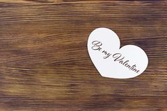 Valentines day greeting card with lettering be my Valentine. Valentines day greeting card with lettering be my Valentine Royalty Free Stock Images