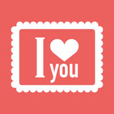 Valentines Day greeting card. Love concept in flat style. Vector illustration EPS10 vector illustration