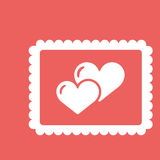 Valentines Day greeting card. Love concept in flat style. Vector illustration EPS10 royalty free illustration