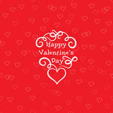 Valentines Day Greeting Card with love heart seamless pattern Royalty Free Stock Photo