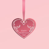 Valentines Day Greeting Card. Love heart shape card Valentines d Royalty Free Stock Photography