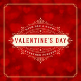 Valentines Day greeting card or poster vector Royalty Free Stock Photography