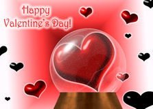 Valentines Day greeting card stock illustration