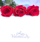Valentines day greeting card with roses Stock Photo