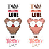 Valentines day greeting card. Stock Images