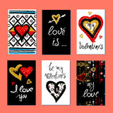 Valentines Day greeting card Stock Image