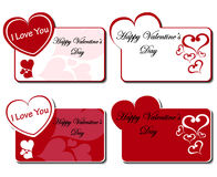 Valentines day greeting card set Stock Images