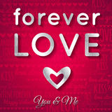 Valentines day greeting card with silver text,  ve Royalty Free Stock Photos