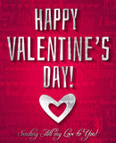 Valentines day greeting card with silver text,  ve Royalty Free Stock Image
