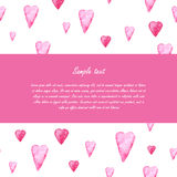 Valentines day greeting card template. Hearts Royalty Free Stock Photography