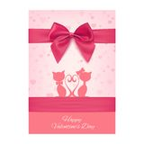 Valentines Day greeting card template Royalty Free Stock Photos