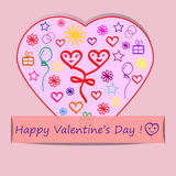 Valentines Day greeting card Royalty Free Stock Image