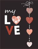 Valentines Day greeting card. Royalty Free Stock Photos