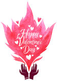 Valentines Day greeting card. Vector illustration. Stock Images