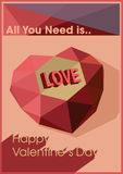 Valentines day greeting card vector illustration Royalty Free Stock Photography