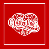 Valentines Day greeting card. Vector Version. vector illustration