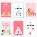 Valentines Day Greeting Cards. Royalty Free Stock Photos
