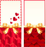 Valentines day greeting cards templates Stock Images