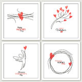 Valentines Day greeting cards - vector Royalty Free Stock Image