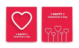 Valentines Day greeting cards. Vector illustration Royalty Free Stock Photos