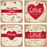 Valentines day greeting cards Stock Photography
