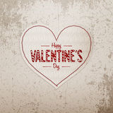 Valentines Day greeting Heart big Banner with Text Stock Photography