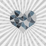 Valentines day greeting with mosaic heart Stock Images