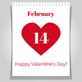 Valentines day greeting poster.  Stock Images