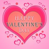 Valentines day greeting royalty free stock photography