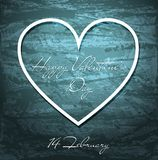 Valentines Day grunge background with heart. Valentines Day blue grunge background with white heart. Vector eps10 Royalty Free Stock Images
