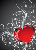 Valentines Day grunge background with Hearts Royalty Free Stock Photo