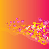 Valentines Day grunge background Royalty Free Stock Image