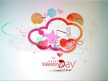 Valentines day hand draw background Stock Image
