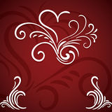 Valentines day hand drawn greeting Royalty Free Stock Images