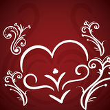 Valentines day hand drawn greeting card Royalty Free Stock Photography