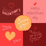 Valentines day hand-lettering labels Royalty Free Stock Image
