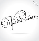 Valentines Day hand lettering (vector) Royalty Free Stock Photos