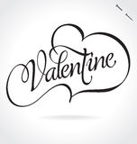 Valentines Day hand lettering (vector) Stock Image