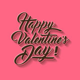 Valentines day hand lettering typography vector illustration. royalty free stock photography