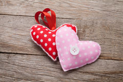 Valentines day handmade toy hearts Stock Photo