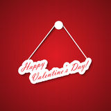 Valentines day hanging sign Stock Image