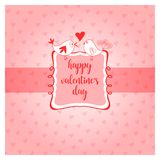 Happy valentines day greeting card vector illustration Stock Photo