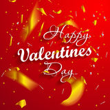 Valentines day. Happy Valentines day lettering card. Vector illustration Royalty Free Stock Images