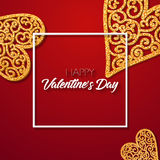 Valentines day. Happy Valentines day lettering card. Vector illustration Royalty Free Stock Photography