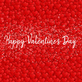 Valentines day. Happy Valentines day lettering card. Vector illustration Stock Photos