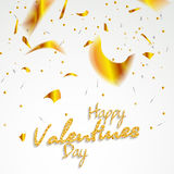 Valentines day. Happy Valentines day lettering card. Vector illustration Royalty Free Stock Photo